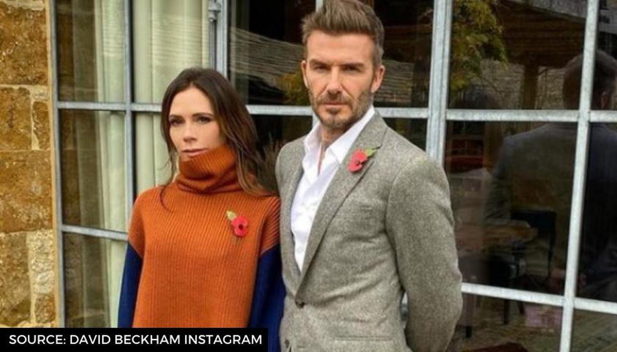 David Beckham flaunts his toned body doing headstand; Victoria calls it 'impressive'