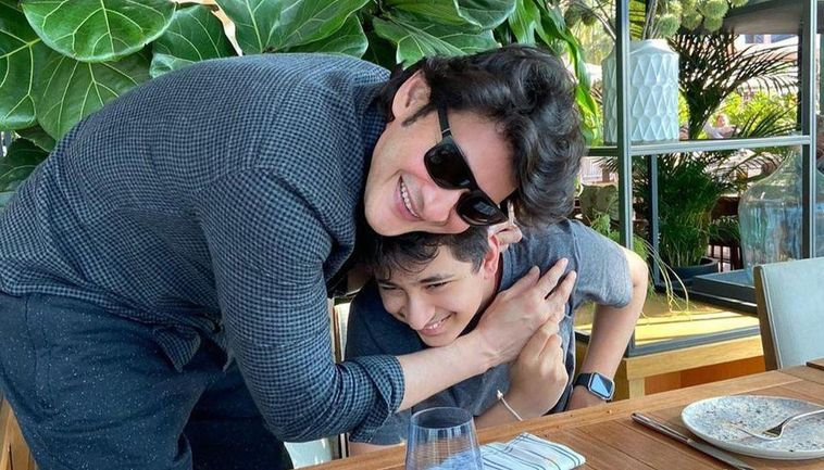 Mahesh Babu posts a mask-ed photo with his son Gautham Ghattamaneni on Instagram