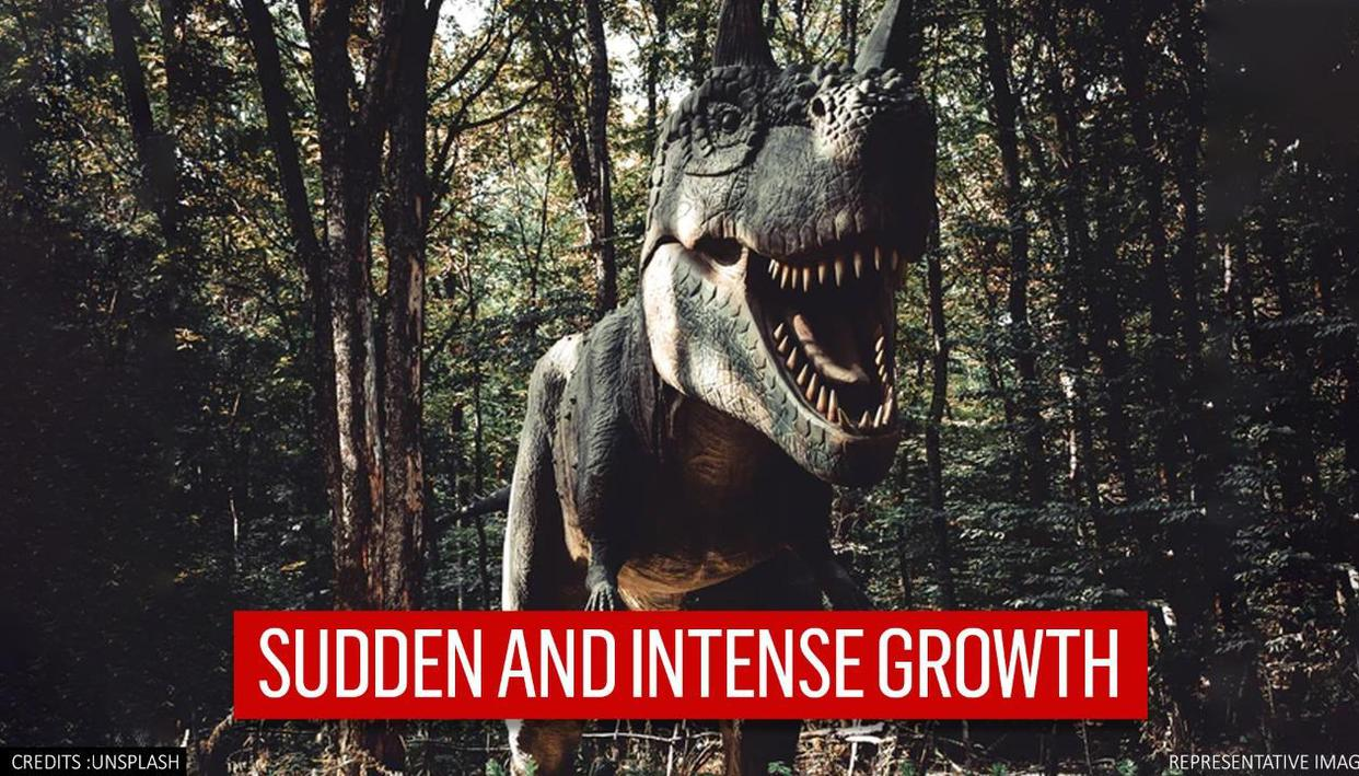 T-rexs intense growth spurt in early days contributed to its gigantic size: Study - Republic World
