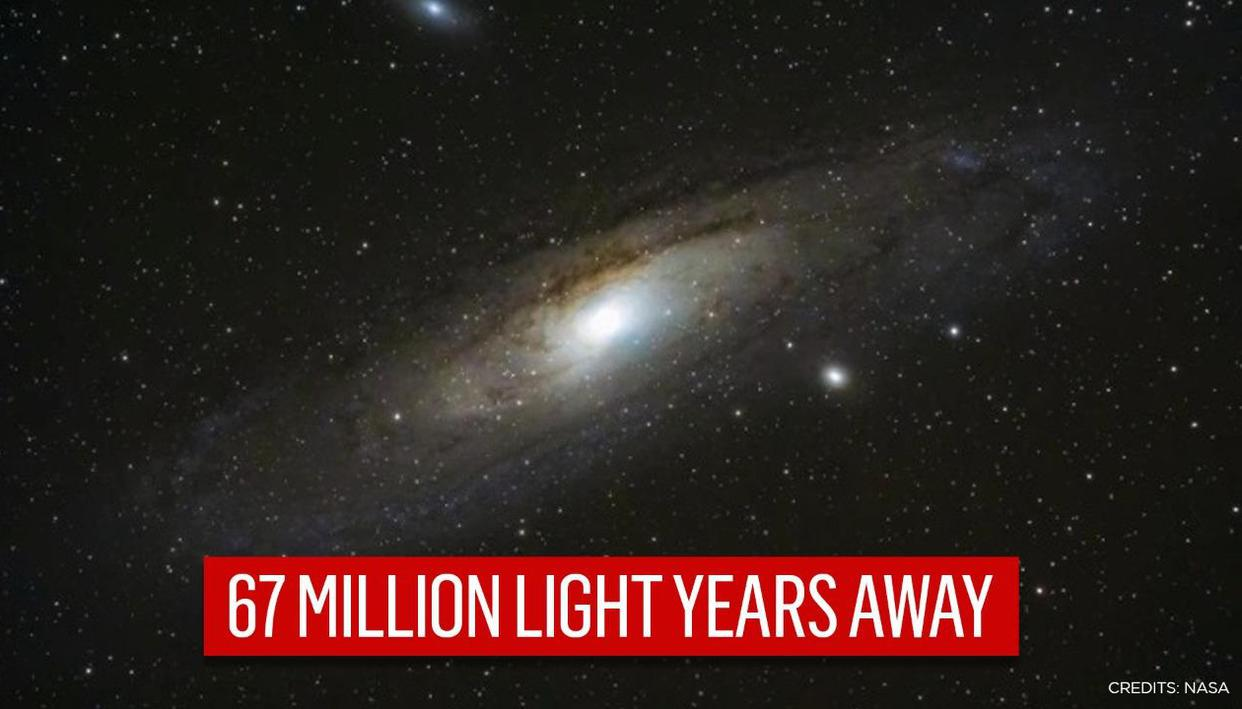 NASA shares stunning image of spiral galaxy with well-defined central bar and long arms - Republic World