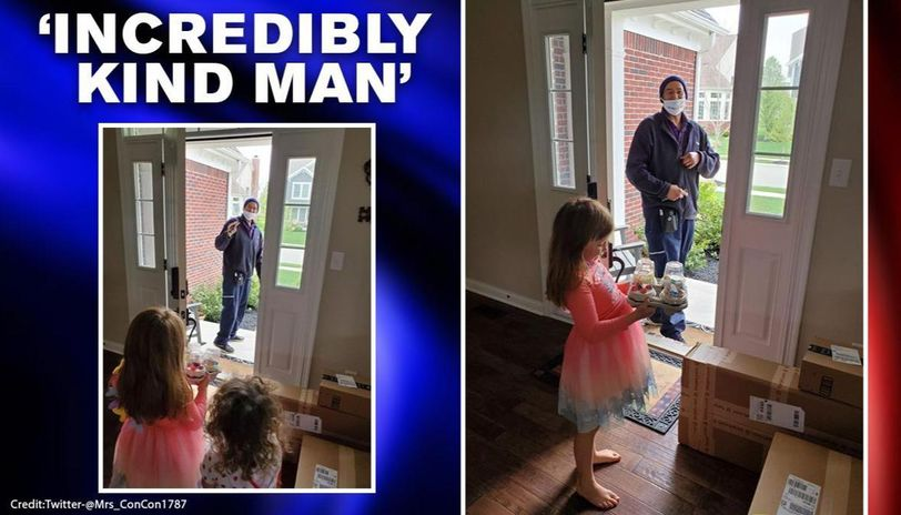 FedEx driver surprises girl with cupcakes on her birthday, netizens call him 'angel'