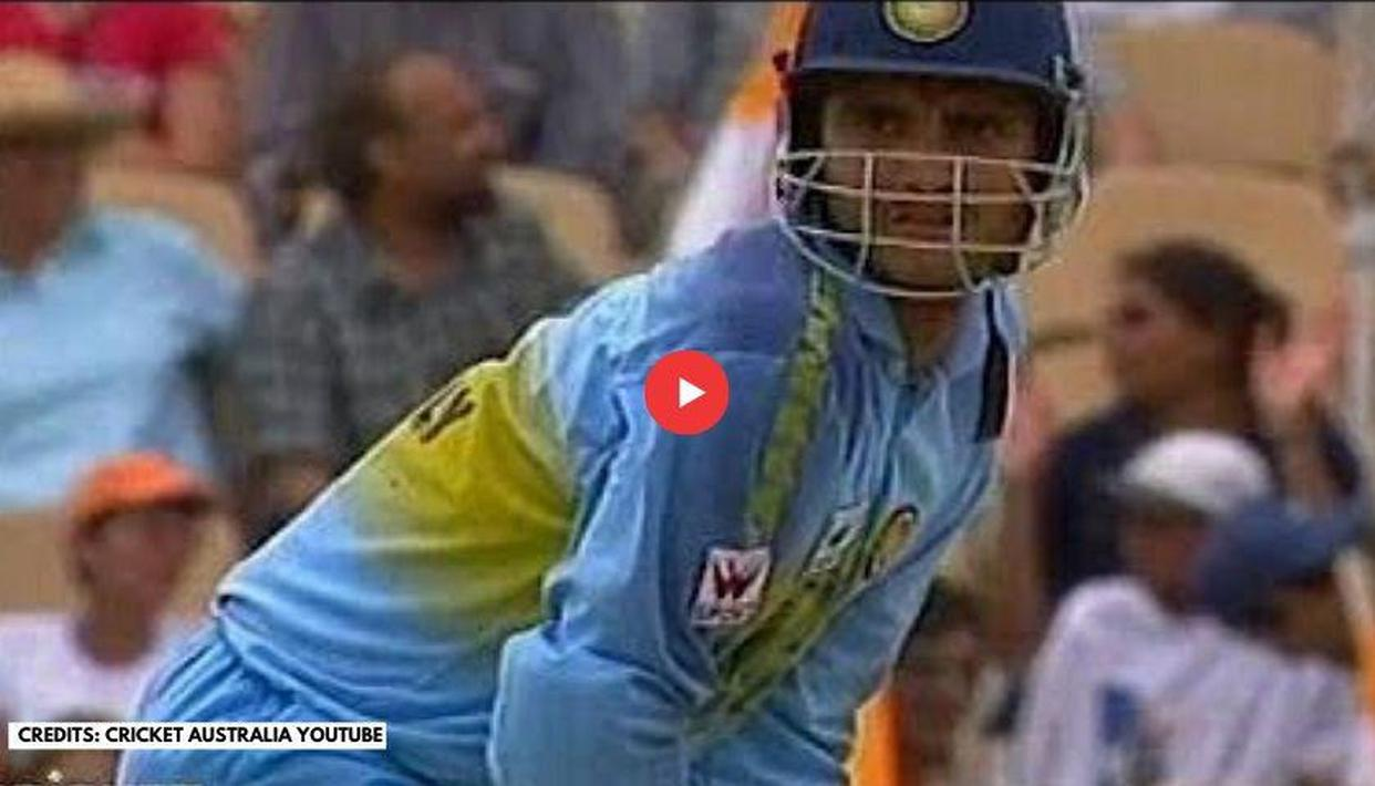 Sourav Ganguly's first century as India's captain in an ICC event; watch video - Republic World