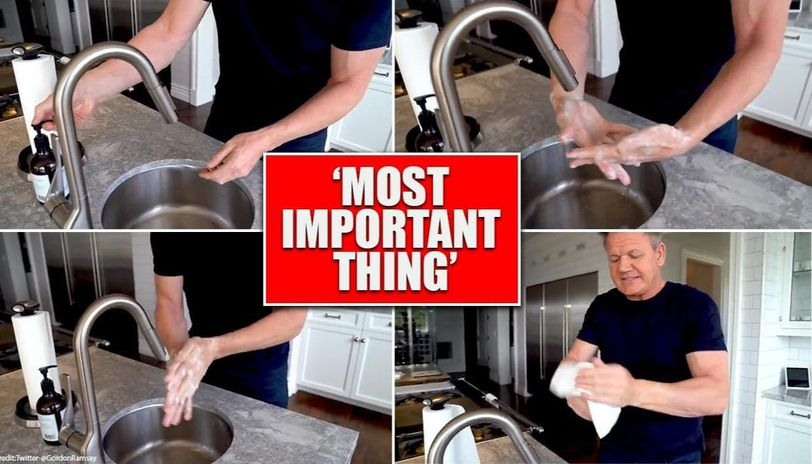 Gordon Ramsay shares Hand Washing Tutorial amid coronavirus pandemic