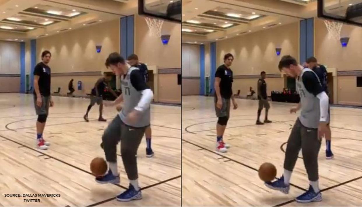 Luka Doncic flaunts silky football skills during Mavericks training at NBA bubble: WATCH - Republic World
