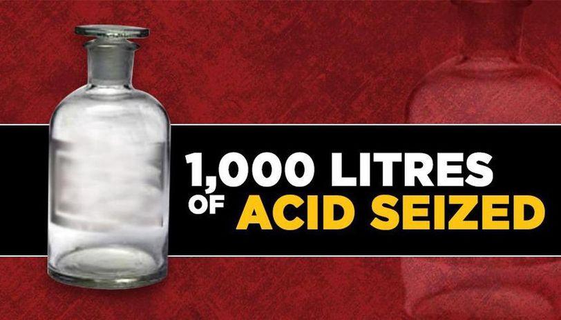 Acid sale