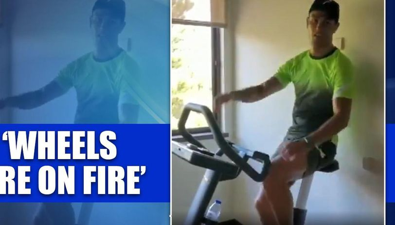 Cristiano Ronaldo Posts A Video Of His Indoor Fitness Session And Its Fire Check It Out