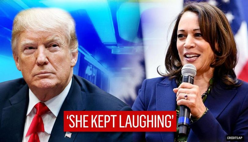 Donald Trump Mocks Kamala Harris For Her Laugh Asks Is Something Wrong With Her