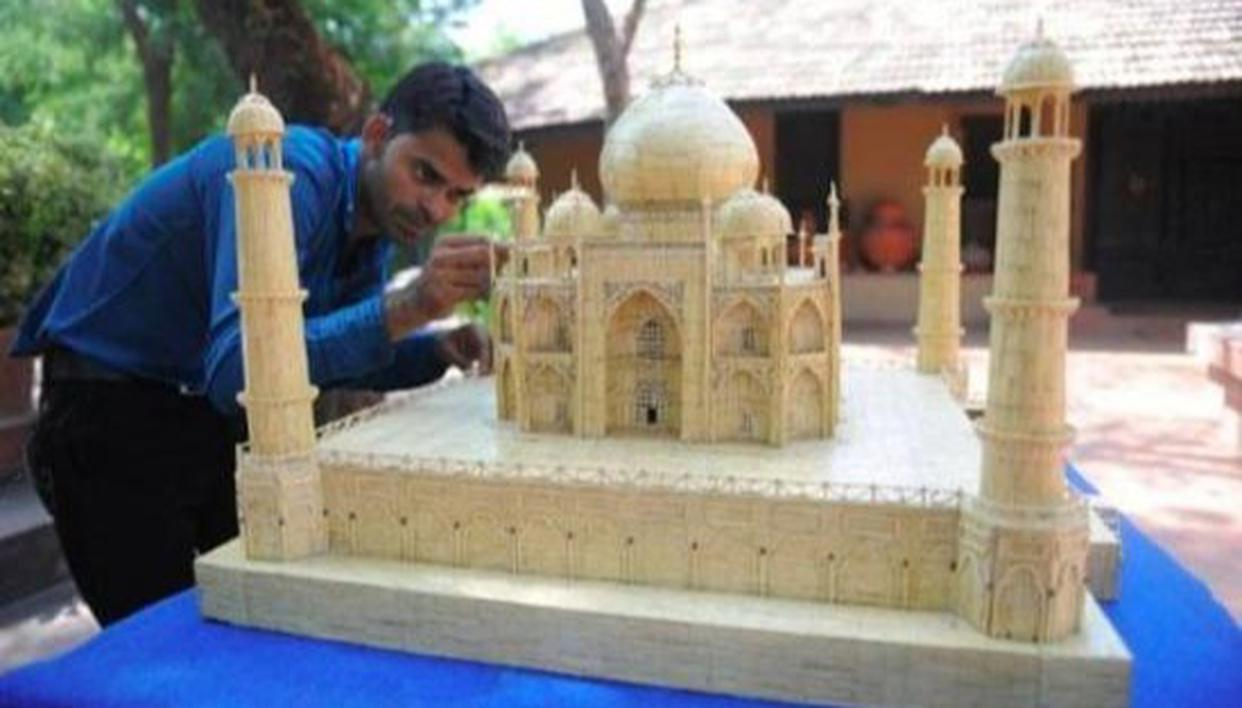 Spectacular! Taj Mahal made with 3 lakh matchsticks breaks Guinness World Record - Republic World