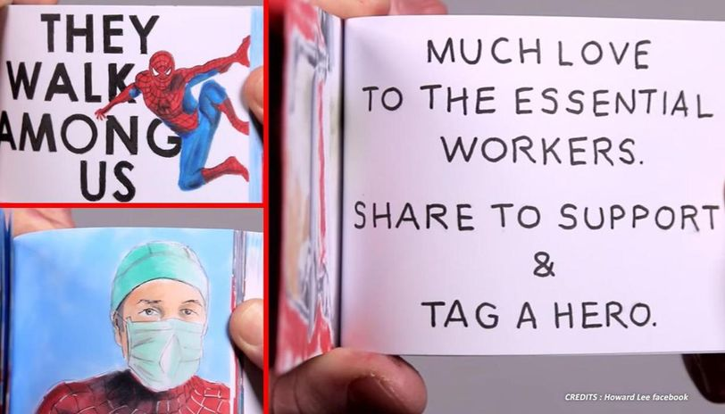 Good News: Artist pays flipbook tribute to frontline 'superheroes' fighting COVID-19
