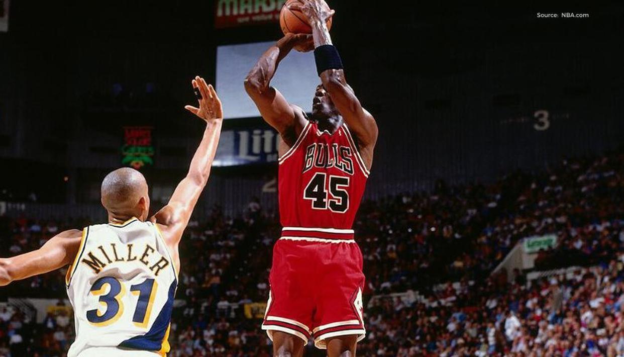 Why did Michael Jordan wear 45 after