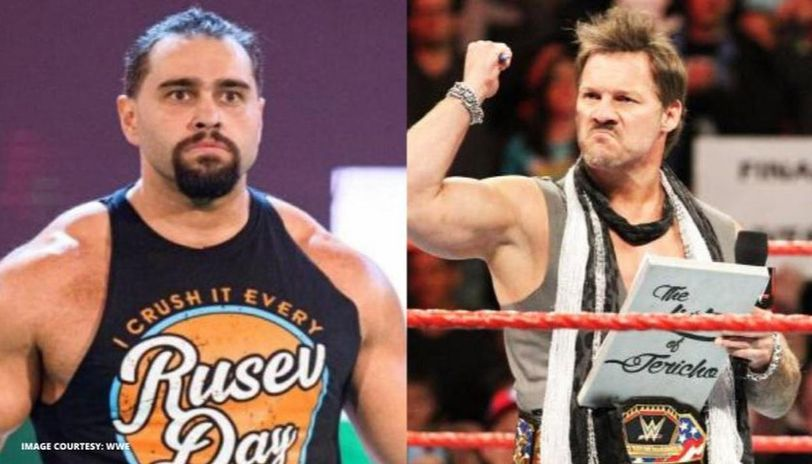 Rusev and Chris Jericho