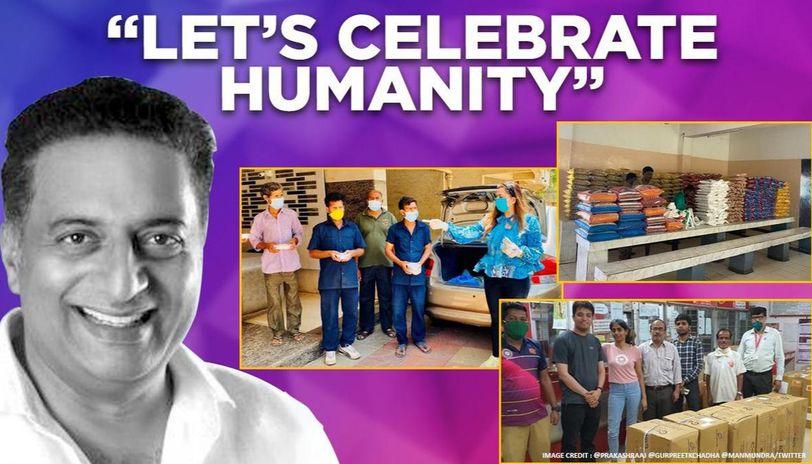 COVID-19: Prakash Raj, 'Dream Girl' director help daily wagers, Manish Mundra provides PPE