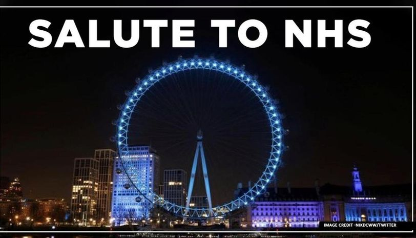 Coronavirus: UK Landmarks Light Up Blue To Salute the NHS