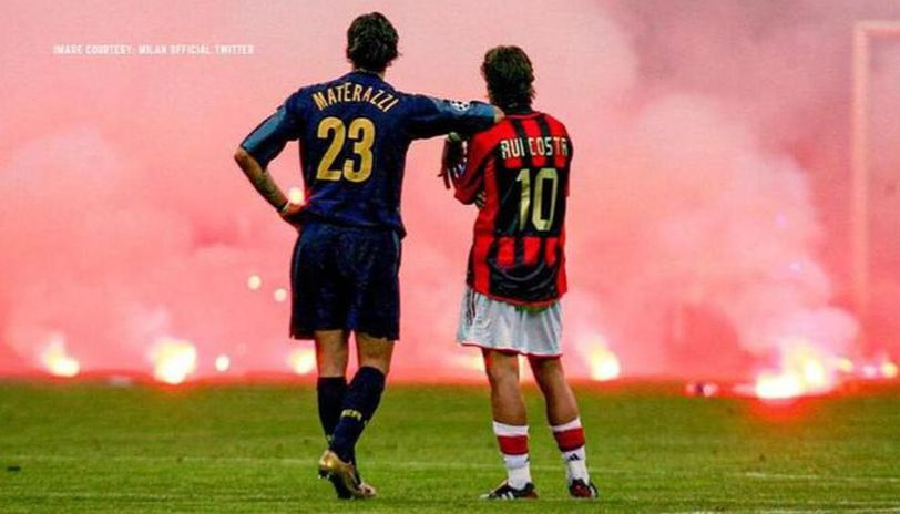 Ac Milan Vs Inter Milan Produced One Of The Most Iconic Images In Ucl History 15 Years Ago