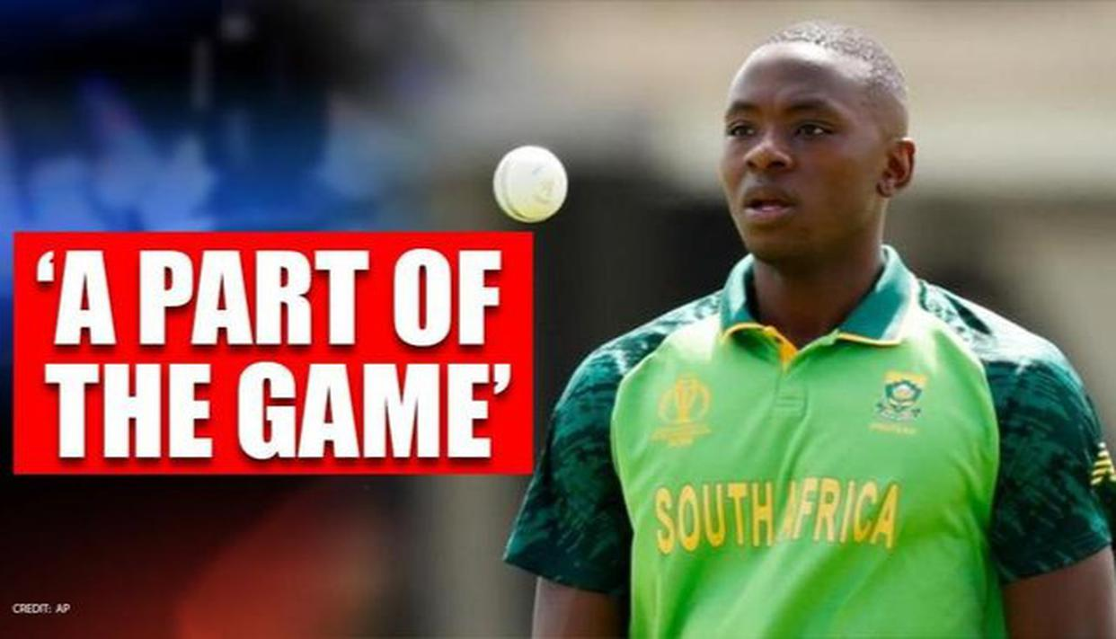 Young Proteas pacer Kagiso Rabada says that sledging is a part of the game - Republic World