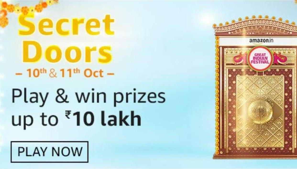 Amazon Great Indian Festival Secret Doors Quiz Answers For October 10