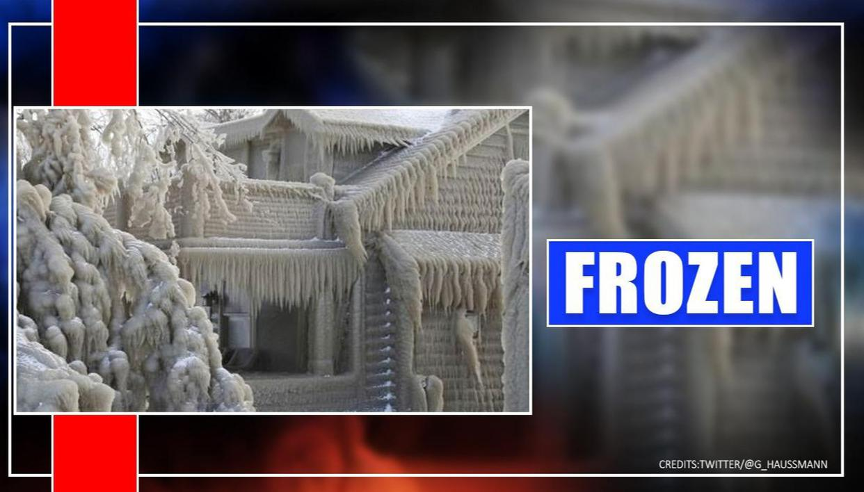 See Lake Erie's 'ice houses' frozen over after winter storm