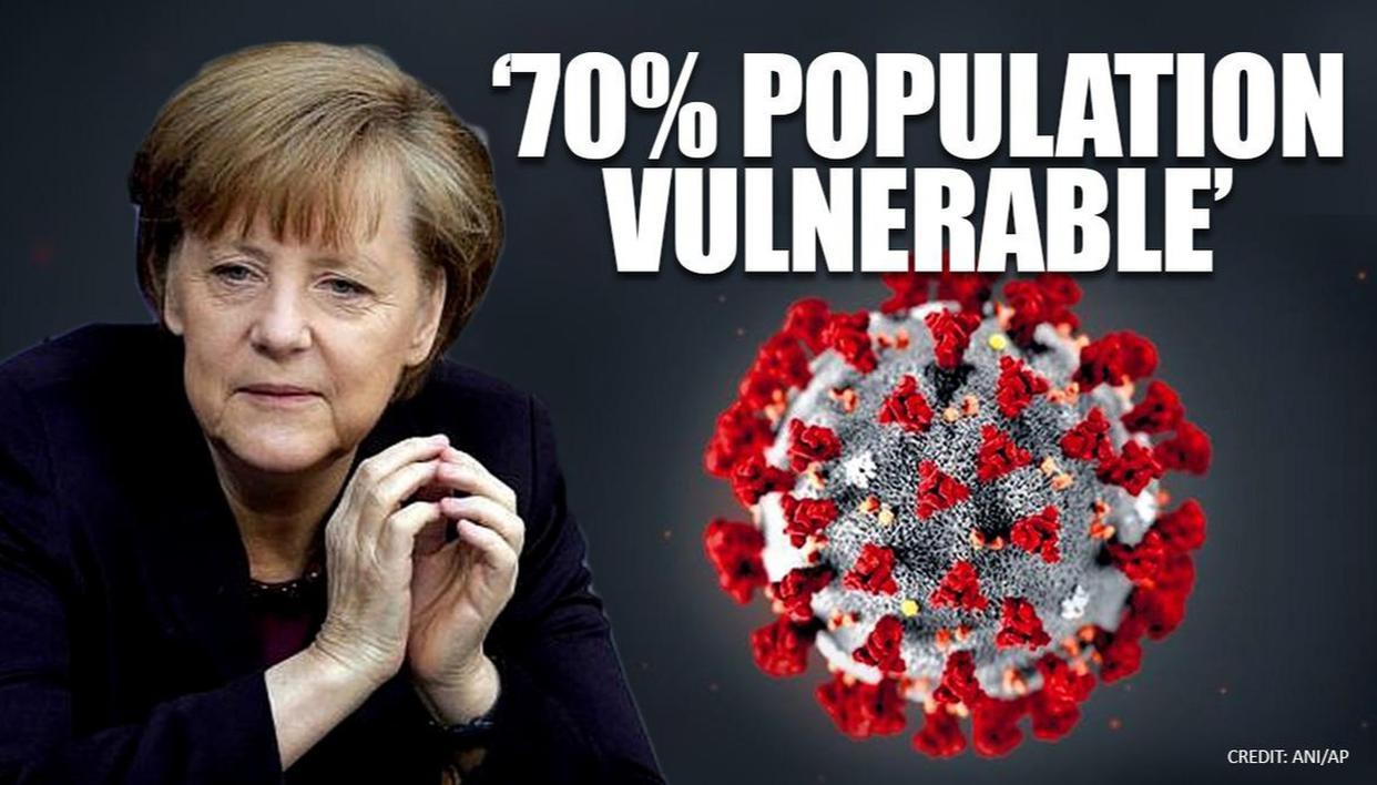 Angela Merkel warns that 70% of Germans could get coronavirus