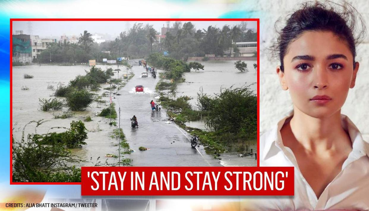 Cyclone Nivar: Alia Bhatt salutes the relief teams; urges people to stay indoors