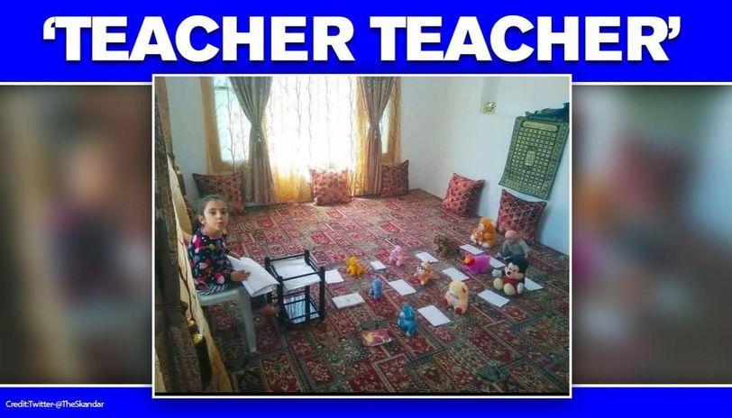 Kashmir: School girl recreates classroom with stuff toys amid COVID-19 lockdown