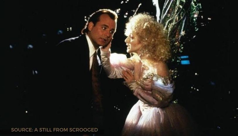 the scrooged cast