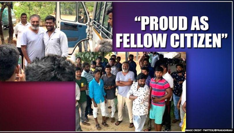 Prakash Raj gets emotional as 31 persons taking shelter at his farm during lockdown leave