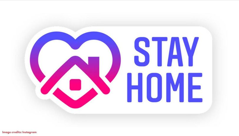 How to add stay home sticker on Instagram