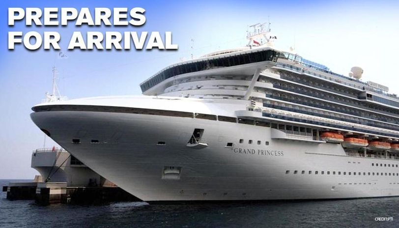 Officials to receive thousands of passengers from the Grand Princess