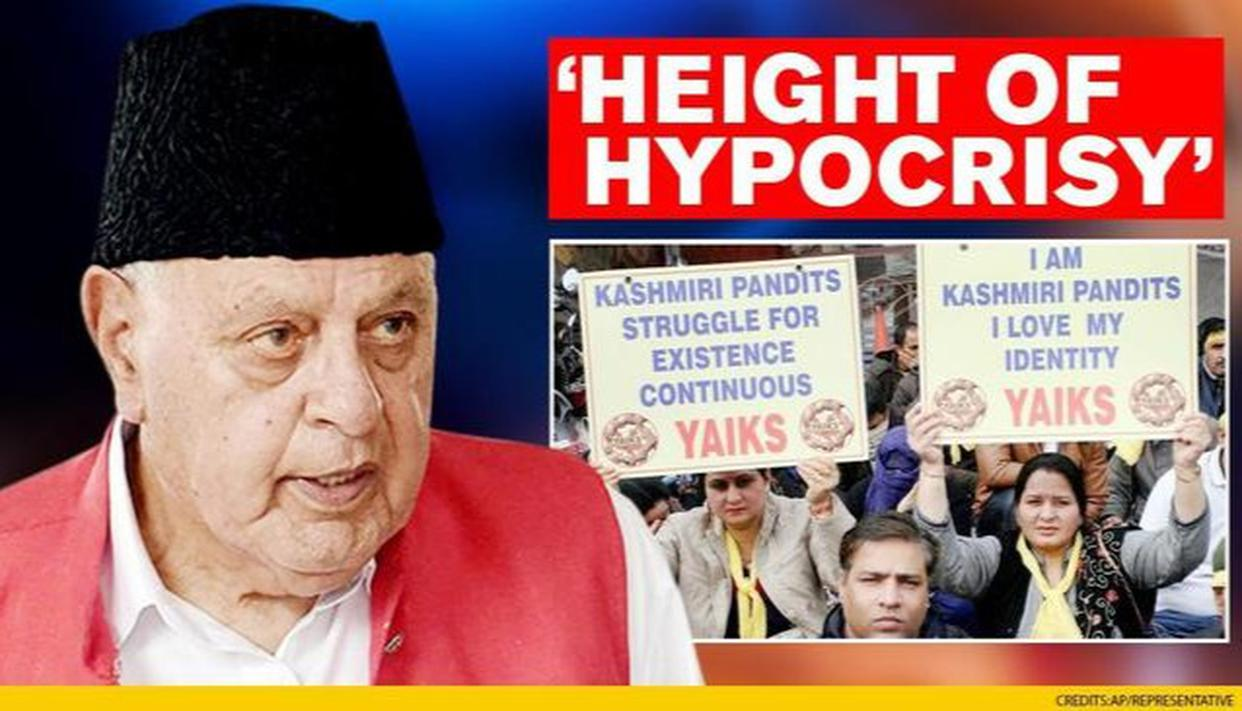 Kashmiri Pandits flay Farooq's remark, say former CM forgot history - Republic World