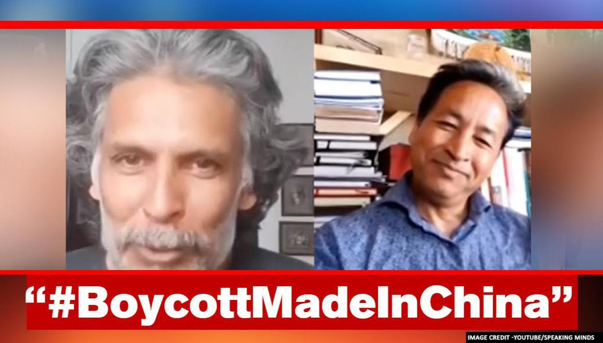 Milind Soman discusses 'making India strong' with Sonam Wangchuk; answers unhappy netizen - Republic World