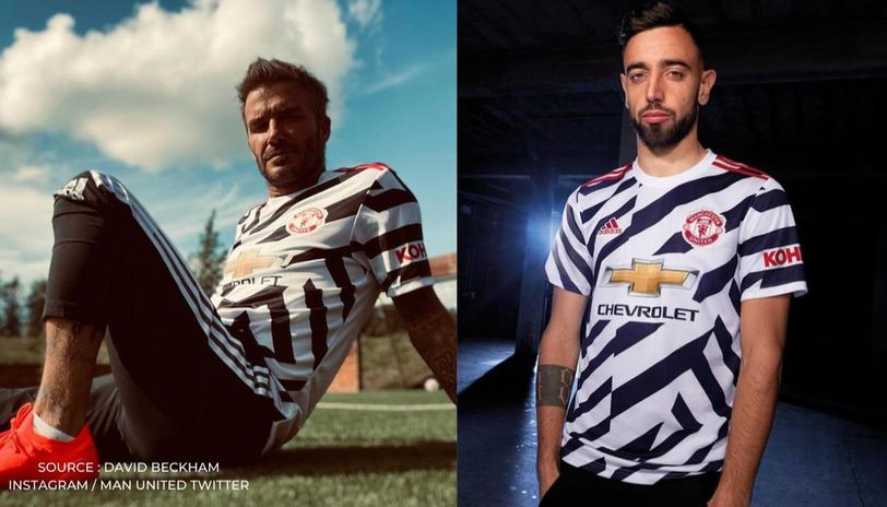 Man United S New Third Kit Compared To Zebras As David Beckham S Picture Goes Viral Republic World