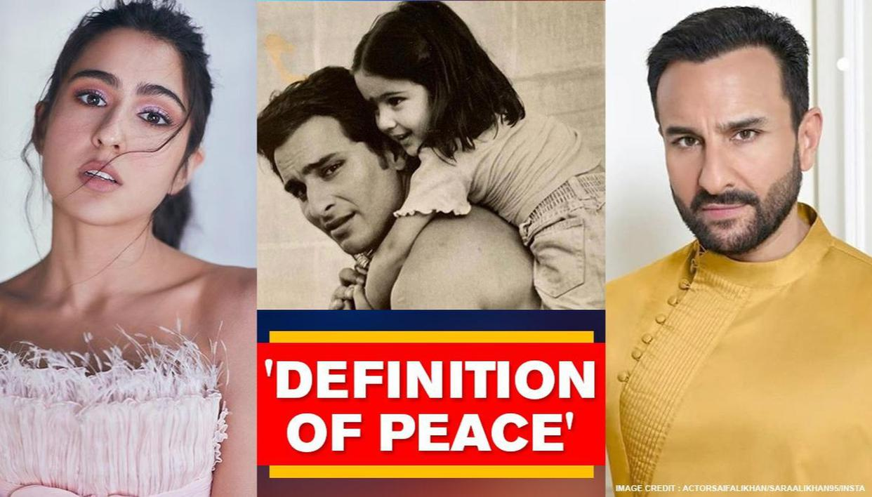 Sara Ali Khan shares childhood picture with dad Saif, calls him 'epitome of love' - Republic World