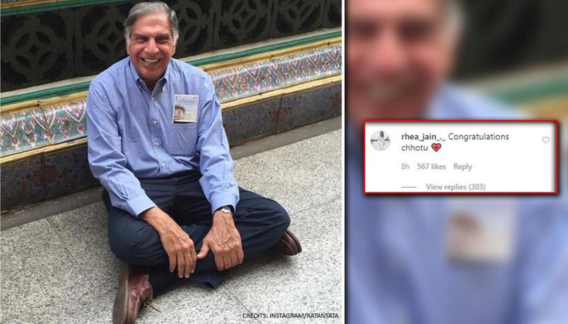 Ratan Tata replies to being called 'chhotu', his reponse is winning internet