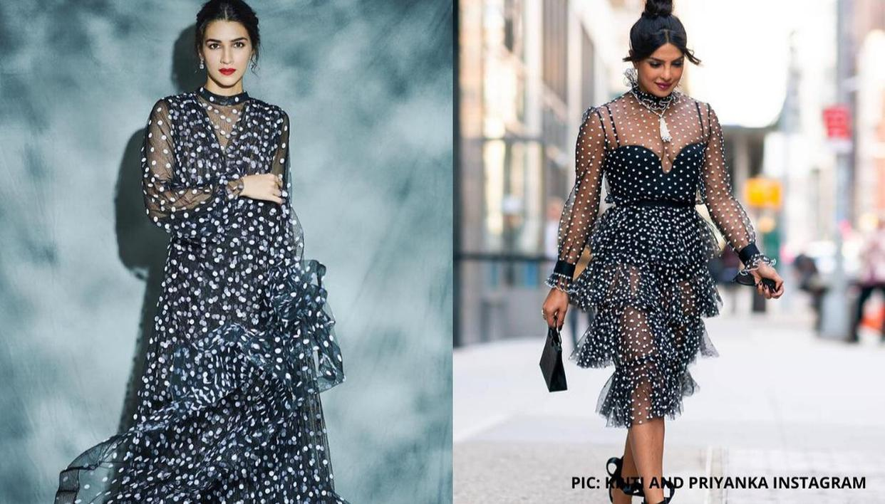 Kriti Sanon or Priyanka Chopra: Who rocked the sheer polka dot dress better? - Republic World