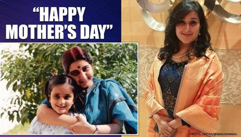 Mother's Day: Bansuri Swaraj shares heartfelt message for Sushma Swaraj with throwback pic
