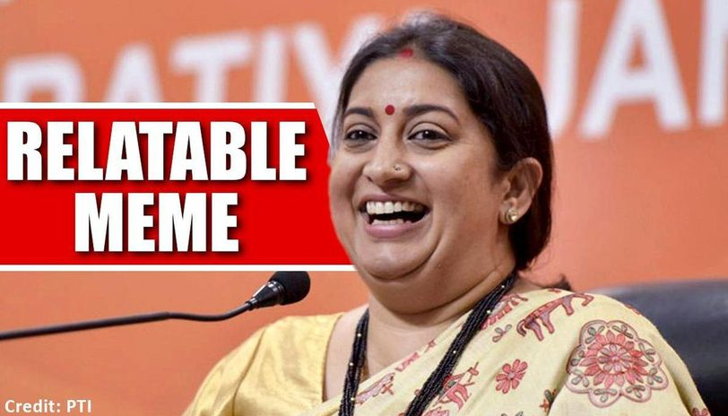 Smriti Irani shares a highly relatable meme