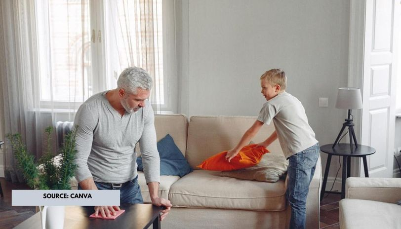 how to disinfect living room