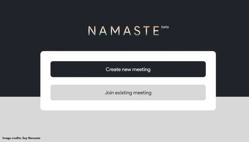 What is the Say Namaste meeting app
