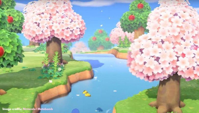 Cherry Blossom Petals in Animal Crossing