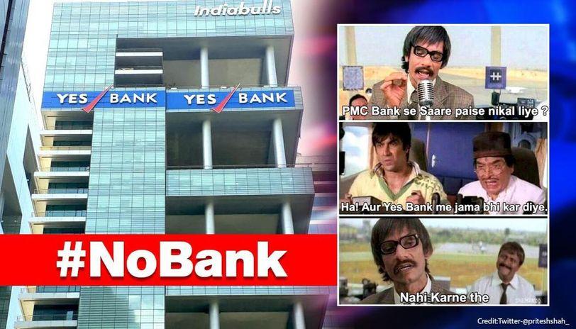 #NoBank: Yes Bank Moratorium leaves netizens dishing out hilarious memes on Twitter