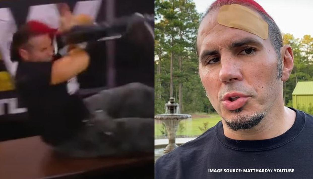 """Matt Hardy gets busted open on AEW Dynamite, claims """"that literally could have killed me"""" - Republic World"""
