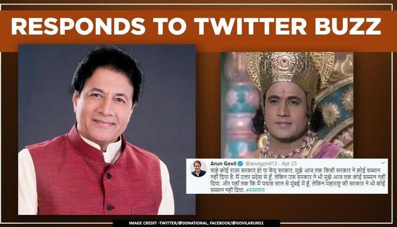 Ram aka Arun Govil has humble reaction as #AwardforRamayan trends after his statement