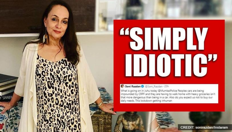 Soni Razdan says lockdown getting 'inhuman' after cars allegedly impounded in Mumbai