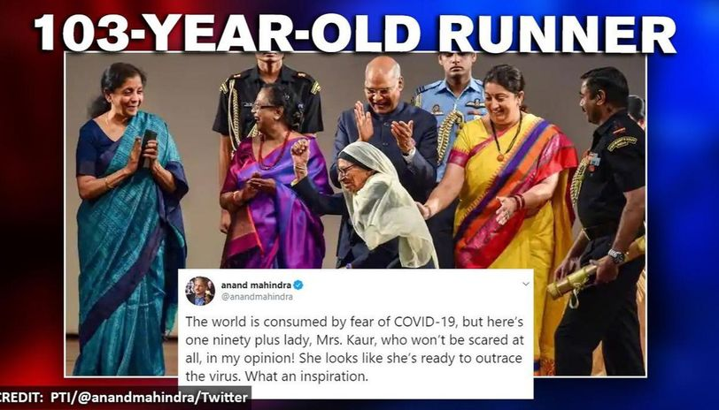 Anand Mahindra shares video of woman who can 'outrace the virus'