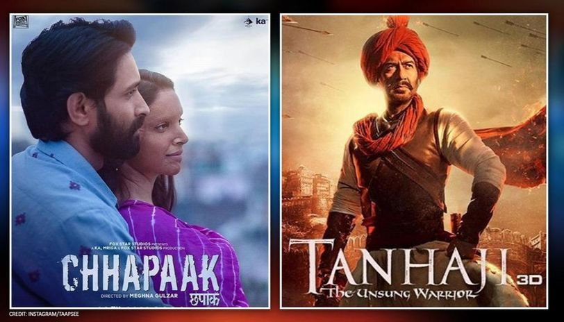 After clash & contrasting fortunes, 'Tanhaji' & 'Chhapaak' to share THIS commonality