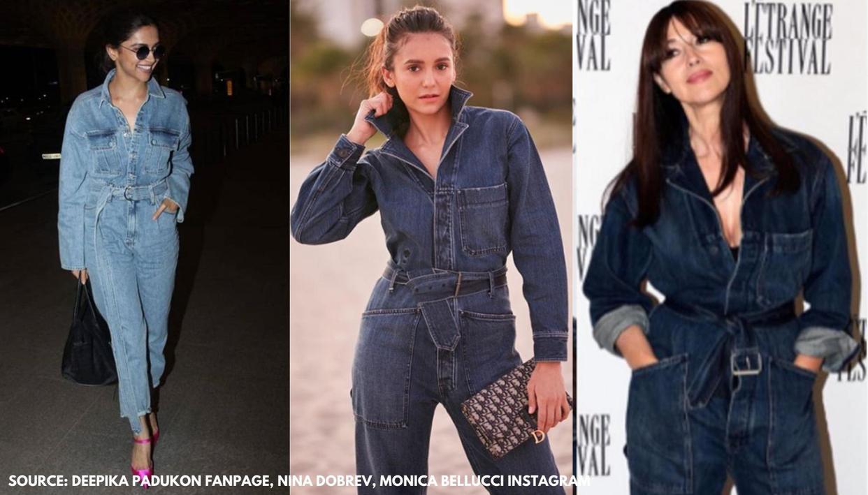 Deepika Padukone, Nina Dobrev, Monica Bellucci, who wore all-denim jumpsuit better? - Republic World