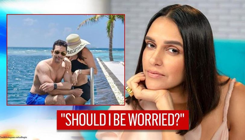 Neha Dhupia quips 'should I be worried?' as Angad Bedi 'spotted with woman in Maldives'