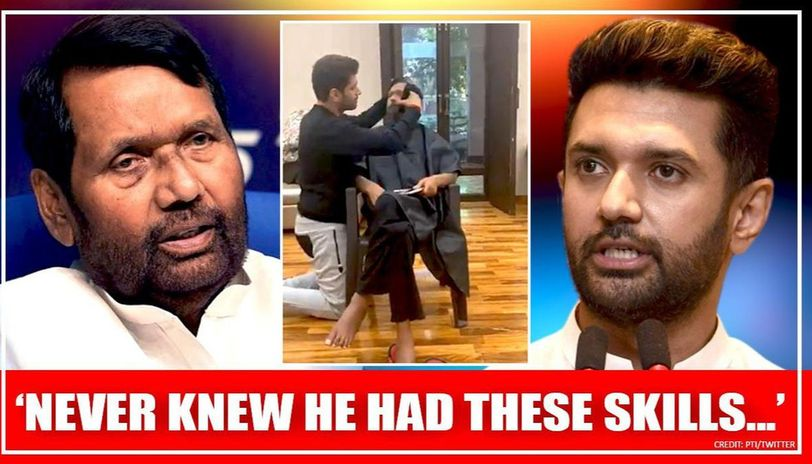 Ram Vilas Paswan S Son Chirag Turns A Hair Stylist Amid Covid 19 Lockdown Ljp Boss Amazed Republic World