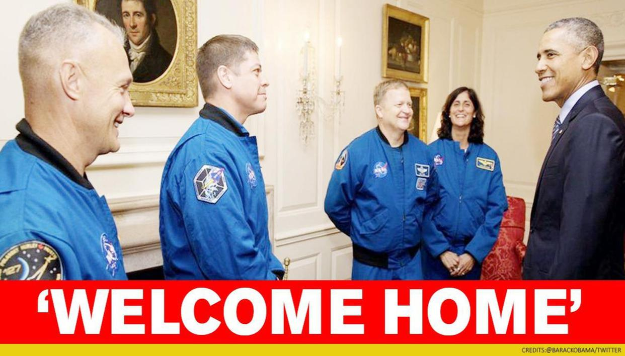 Barack Obama welcomes astronauts, calls NASA-SpaceX mission symbol of 'American ingenuity'