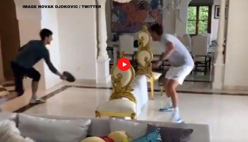 Novak Djokovic Beats Brother Marko In Fun Tennis Game At Home Watch Video Republic World